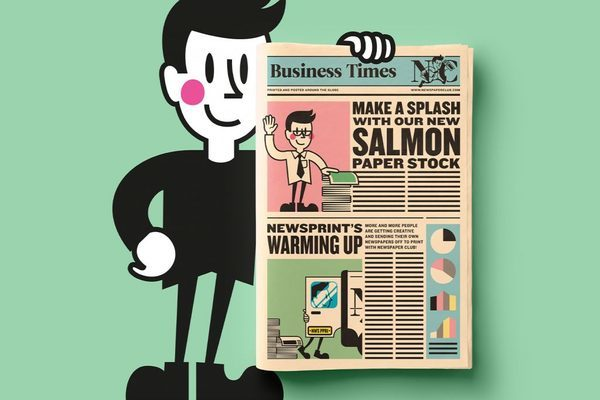 Newspaper Club now offering salmon pink newsprint