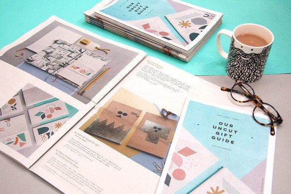 U Studio tabloid catalogue and mini newspaper gift guide