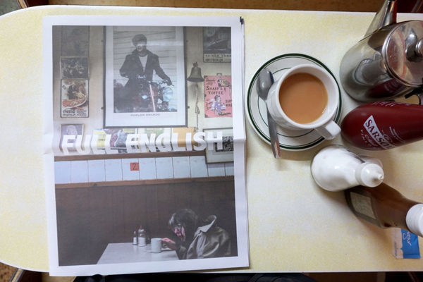 Sam Walker captures classic cafe culture in his photography series Full English. Printed as a digital tabloid newspaper by Newspaper Club.